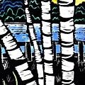 Birch Lake Print by Jane Croteau