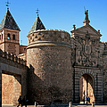Bisagra Gate Toledo Spain Print by Joan Carroll
