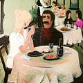 Bistro Mural Detail 1 Poster by Rachel Christine Nowicki