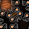 Bleeding Orange and Black - Flyers Poster by Trish Tritz