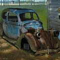 Blue Ford Print by Doug Strickland