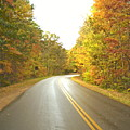 blue ridge parkway in fall Print by Utopia Concepts