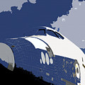 Blue sky shuttle Poster by David Lee Thompson
