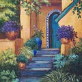 Blue Tile Steps Poster by Candy Mayer