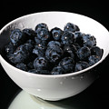 blueberries Print by Michael Ledray