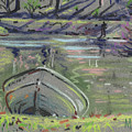 Boat at the Lake Poster by Donald Maier