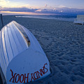 Boat on the New Jersey Shore at Sunset Print by George Oze