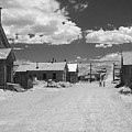Bodie A Ghost Town Infrared  Poster by Christine Till