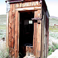 Bodie Outhouse 2 Print by Lydia Warner Miller