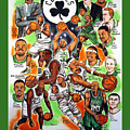 BOSTON CELTICS EASTERN CONFERENCE CHAMPIONS Print by Dave Olsen