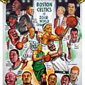 Boston Celtics World Championship Newspaper Poster Print by Dave Olsen