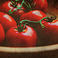 Bowl of tomatoes Poster by Toni Hopper