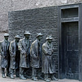 Breadline at the FDR Memorial - Washington DC Poster by Brendan Reals
