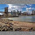 Brooklyn Bridge...Triptych Print by Arkadiy Bogatyryov