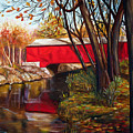 Brown County Bridge Poster by Dorothy Riley