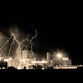 Budweiser Lightning Thunderstorm Moving Out BW Sepia Poster by James BO  Insogna