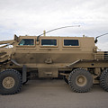 Buffalo Mine Protected Vehicle Print by Terry Moore