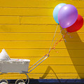 Buggy and yellow wall Print by Garry Gay