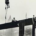 Building the Empire State Building Print by LW Hine