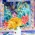 Butterfly Bouquet Print by Mindy Newman