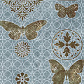 Butterfly Deco 1 Print by JQ Licensing