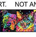 Buy Art Not Animals Poster by Dean Russo