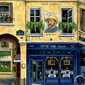 Cafe Van Gogh Print by Marilyn Dunlap