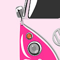 Camper Pink Poster by Michael Tompsett
