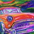 Car and Colorful Print by Evelyn Sprouse Rowe