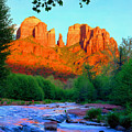 Cathedral Rock Print by Frank Houck