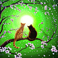 Cats on a Spring Night Poster by Laura Iverson