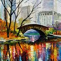 Central Park Poster by Leonid Afremov