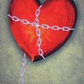 Chained Heart Print by Jeff Kolker