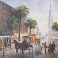 Charleston Somewhere in Time Poster by Charles Roy Smith