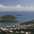 Charlotte Amalie from Above Print by Gary Lobdell