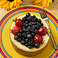 Cheesecake with fruit Poster by Garry Gay