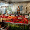 Chef - Vegetable - Jersey Fresh Farmers Market Poster by Mike Savad