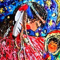 Cherokee Trail of Tears Mother and Child Print by Laura  Grisham