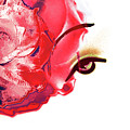 Cherry Lips Red Rose Girl Print by Jayne Logan Intveld