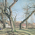 Chestnut Trees at Louveciennes Poster by Camille Pissarro