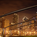 Chicago at night Print by Andreas Freund