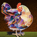 Chicken from Jamestown Print by Bob Coonts