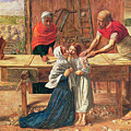 Christ in the House of His Parents Poster by JE Millais and Rebecca Solomon