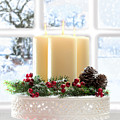 Christmas Candles Display Print by Amanda And Christopher Elwell