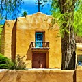 Church with Blue Door Poster by Jeff Kolker