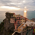 Cinque Terre Tranquility Poster by Mike Reid