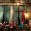 City - Vegas - Paris - The outdoor Cafe  Print by Mike Savad