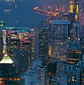 Cityscape from Victoria Peak Poster by Sami Sarkis