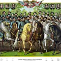 Civil War Generals and Statesman With Names Print by War Is Hell Store