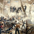 Civil War Naval Battle Poster by War Is Hell Store